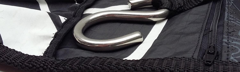 Kulturbeutel Notebookhüllen Etuis upcycled aus Segeltuch